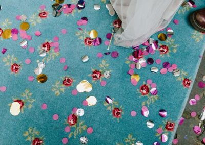 confetti on rug
