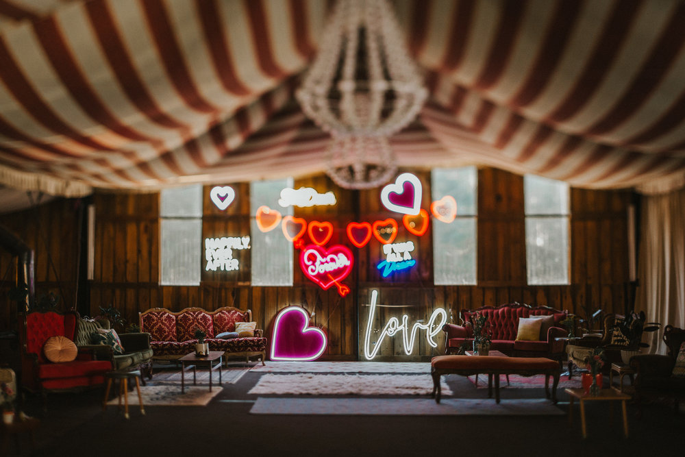 Good Day Rentals Colourful neon wedding
