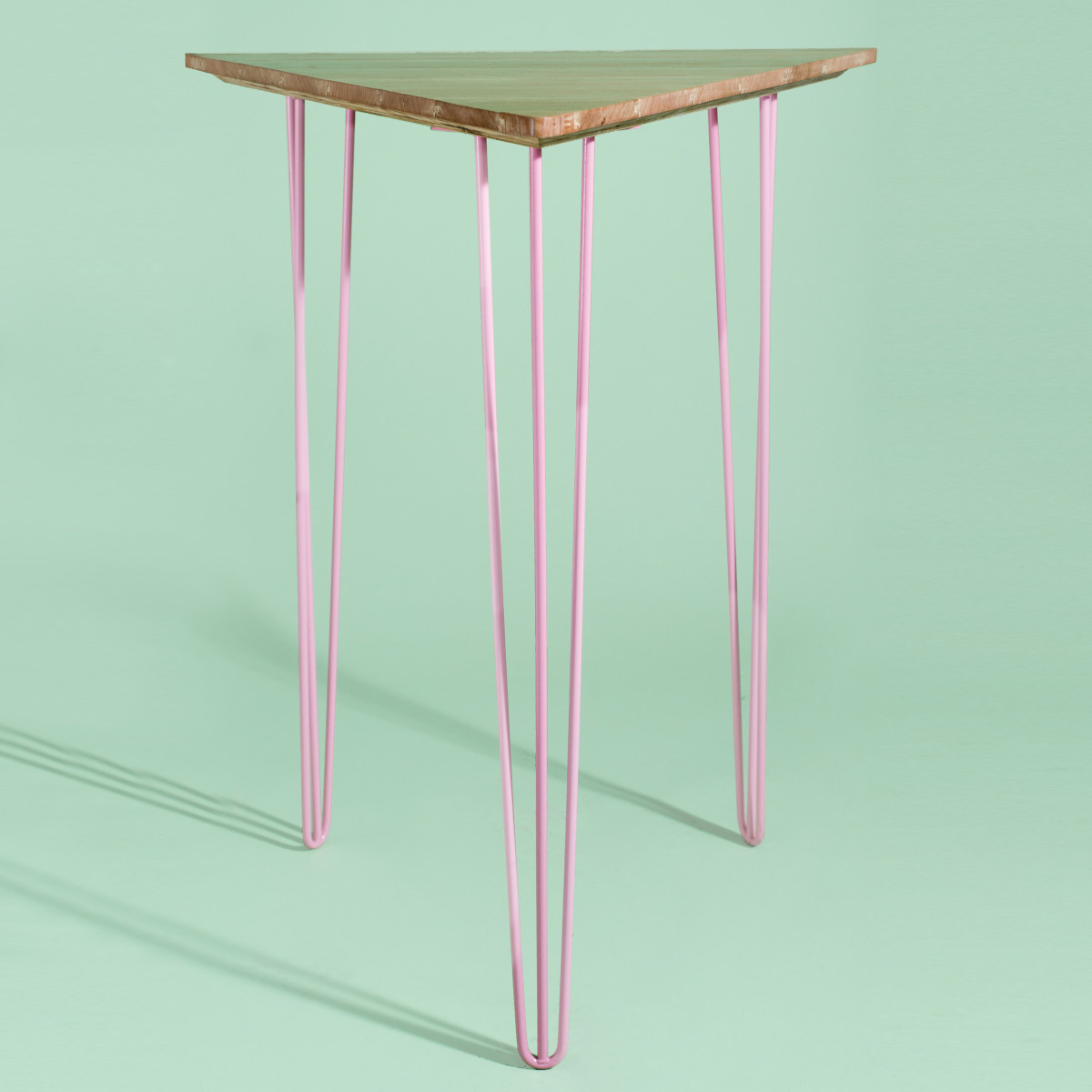 BA033-Triangle + Pink High Bar Table-0