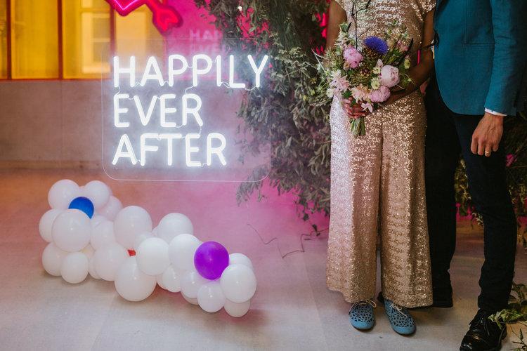 Good Day Rentals Neon wedding