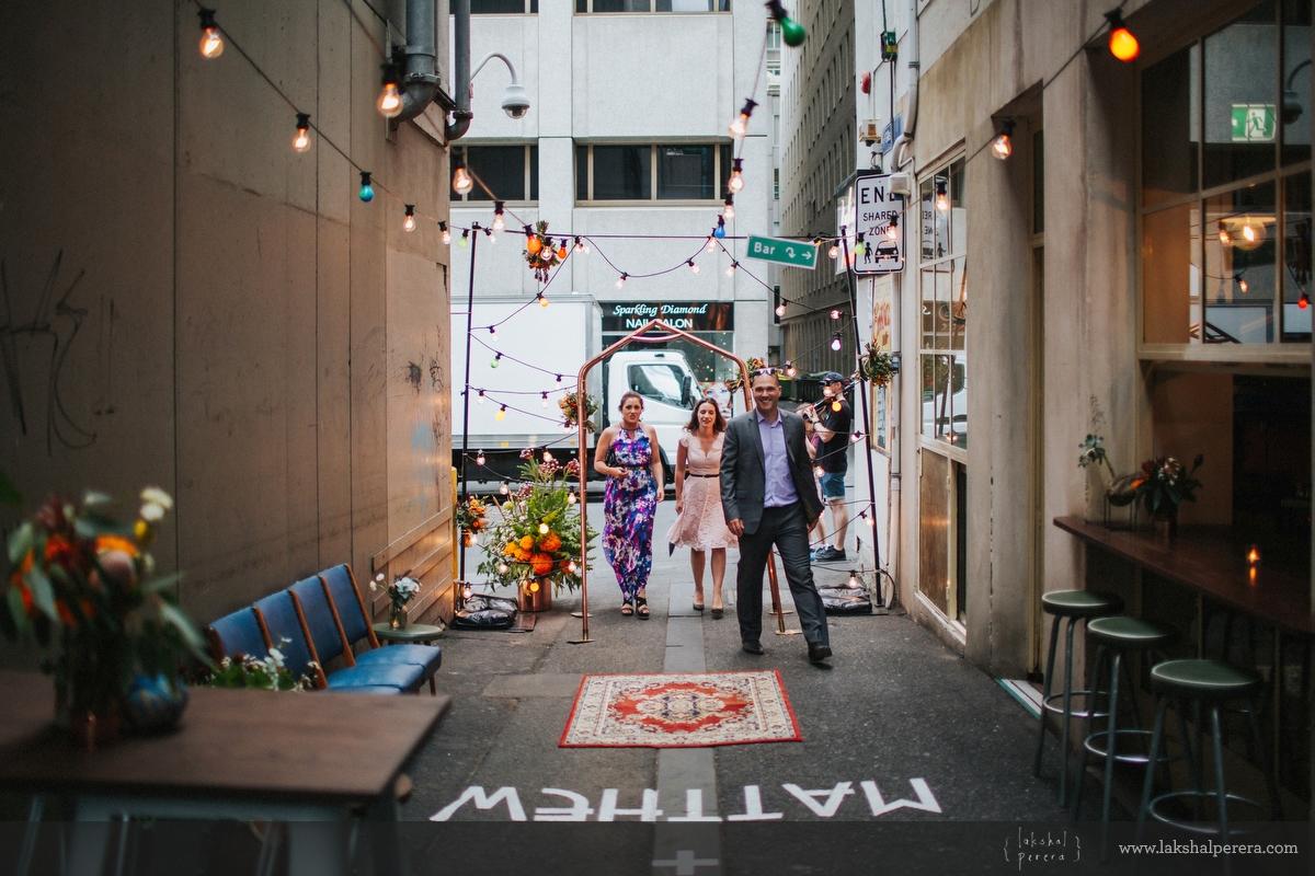Good Day Club Melbourne Laneway Wedding