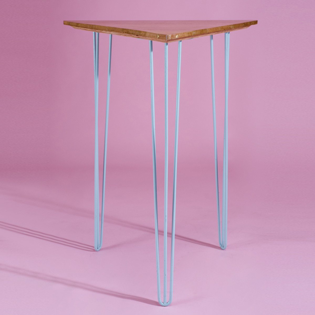 BA032-Triangle + Blue High Bar Table-1