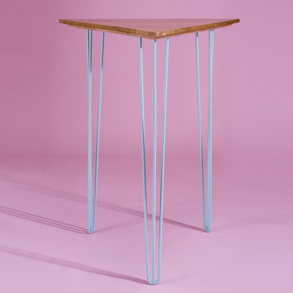 BA032-Triangle + Blue High Bar Table-1