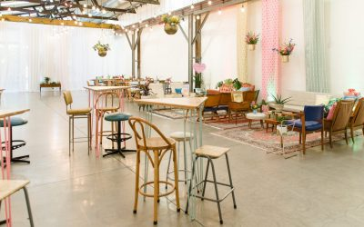 Mid century mexicana warehouse wedding