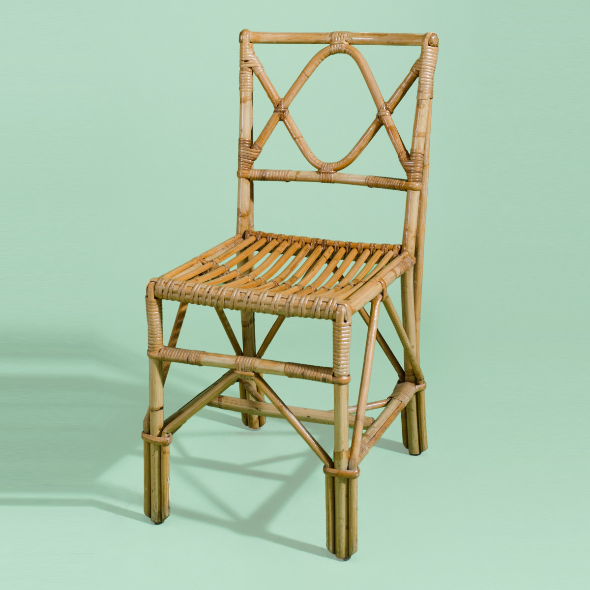 CH045- Keanu Reeves Wavy Cane Dining Chair