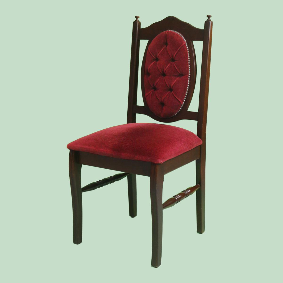 CH074- Royal Burgundy Dining Chair-1