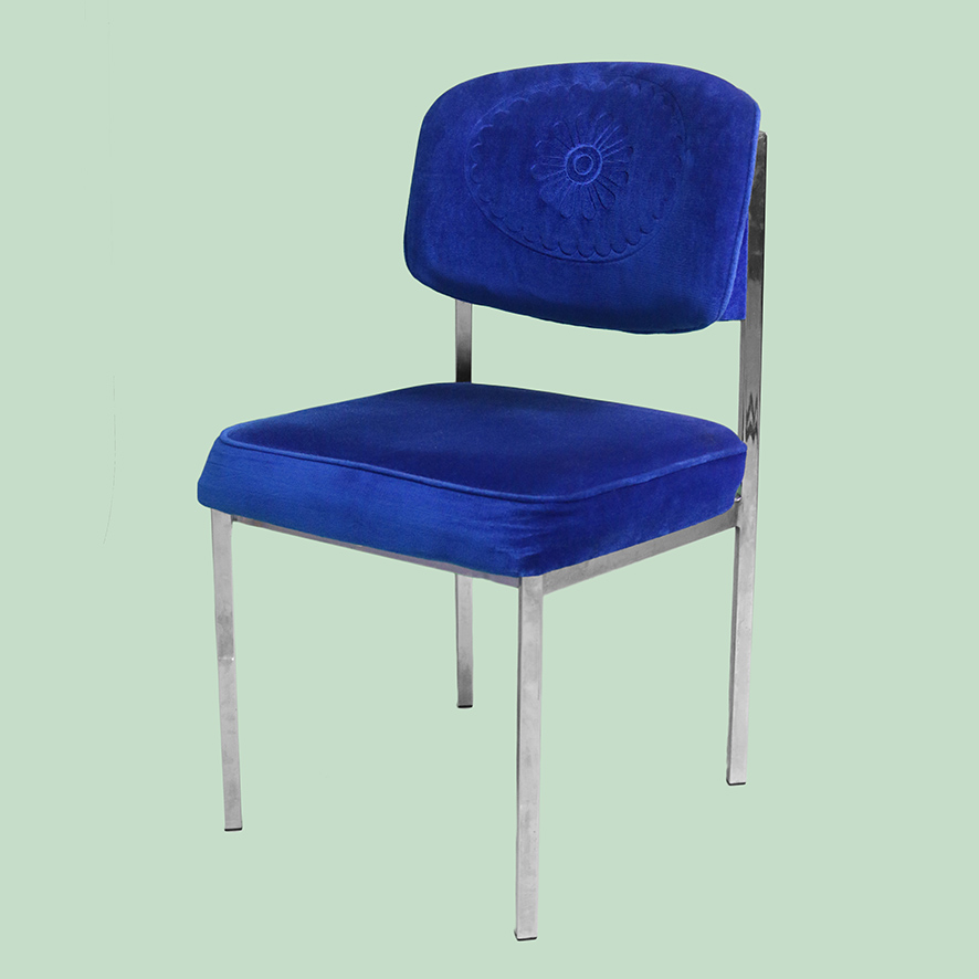 Dana Royal Blue Dining chair -1- CH029