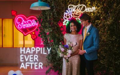 HOORAY! – Neon + Glitter Wedding Inspiration