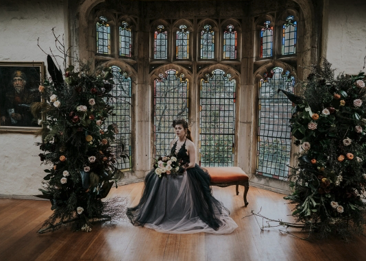 Polka Dot Bride – Decadent + Dramatic Moody styled shoot