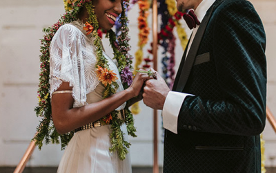 Ruffled – This Industrial Wedding Inspo is the Unicorn at a Rainbow Convention