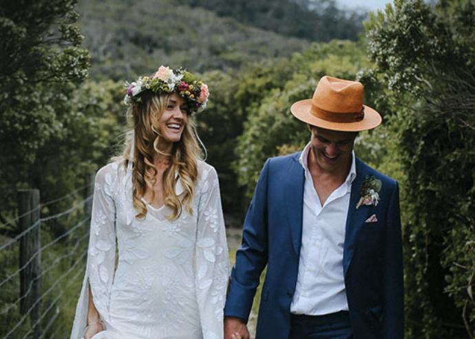 Hello May – Sarah + Sam's Boho elegant wedding