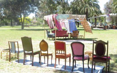 Blanket fort birthday picnic