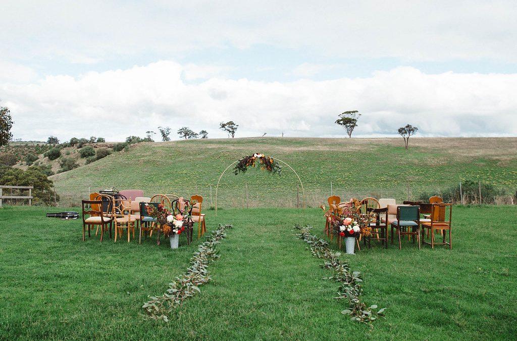 Vintage Scandi inspired woolshed wedding
