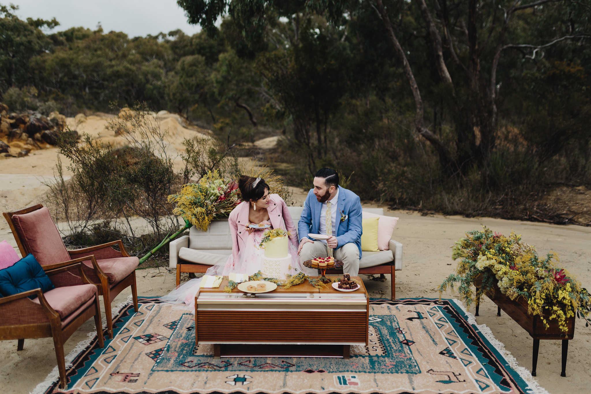 Good Day Rentals mid century wedding styling Melbourne australia