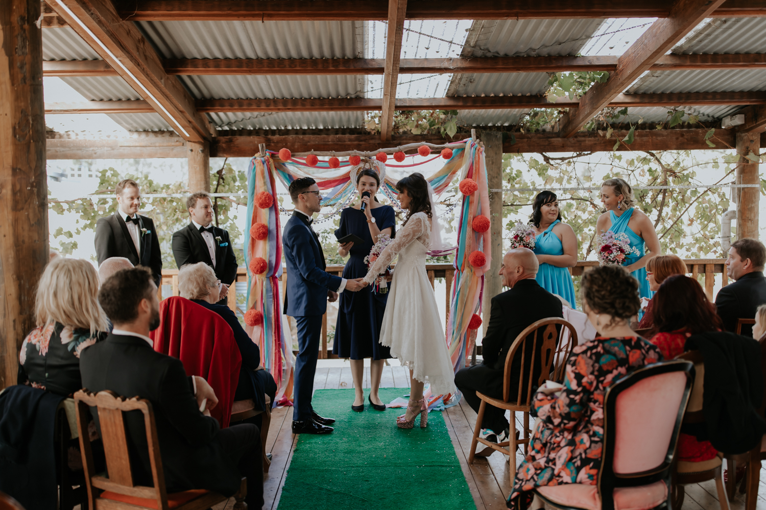 Stacey + Ben's Ceres wedding ceremony styled by Good Day Rentals