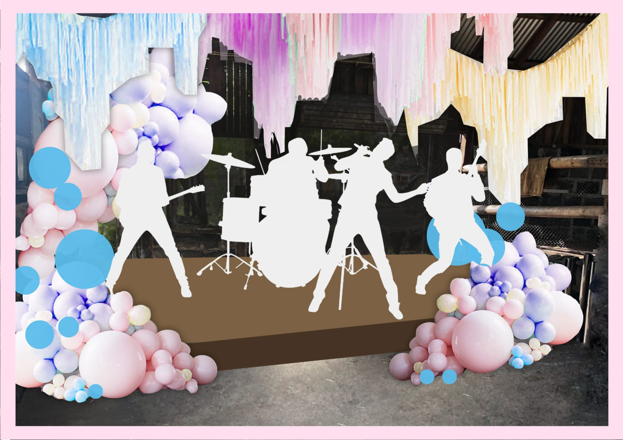 Whimsical Wedding Reception Render