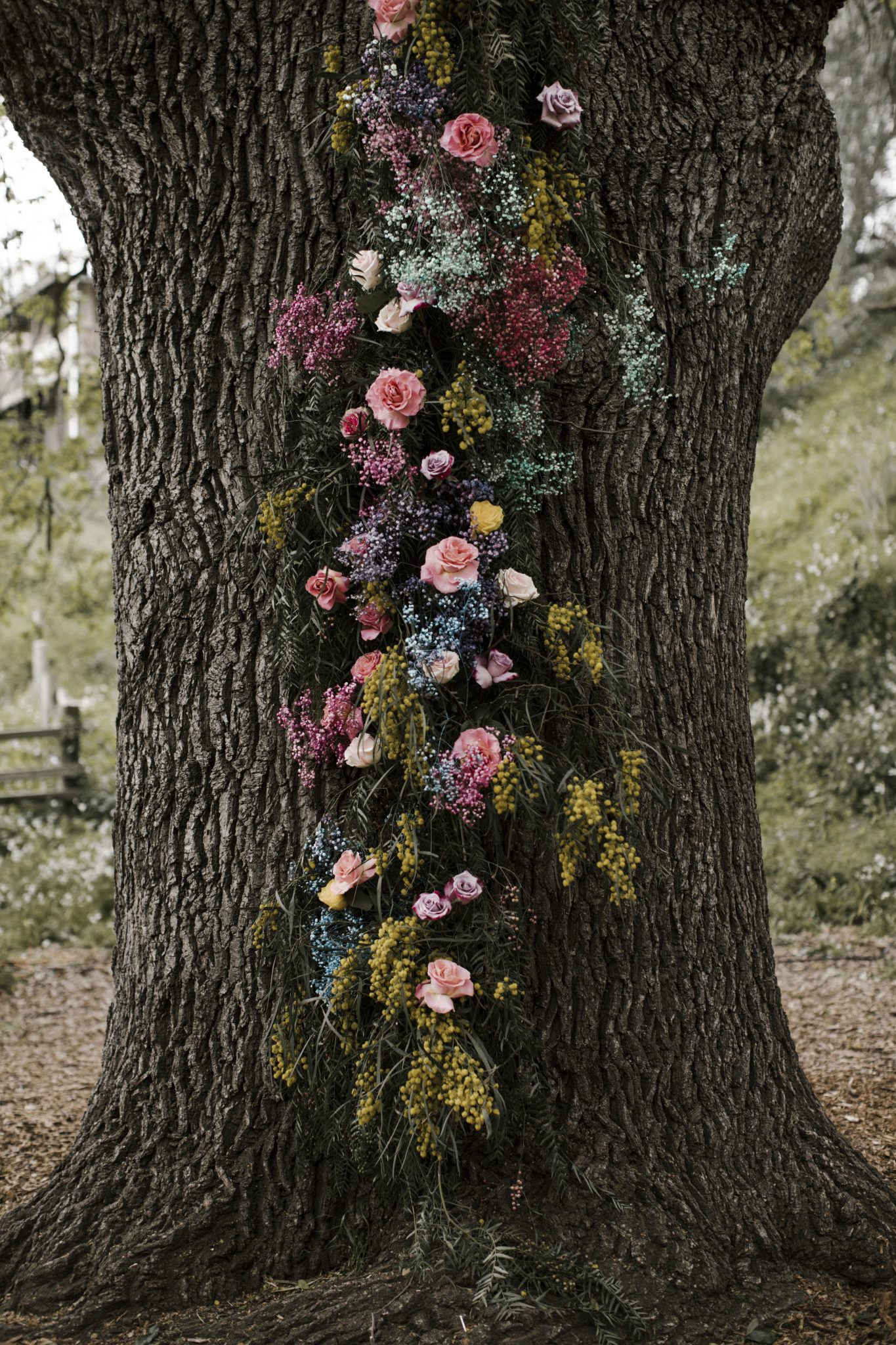 Luna Moss Whimsical Floral Installation