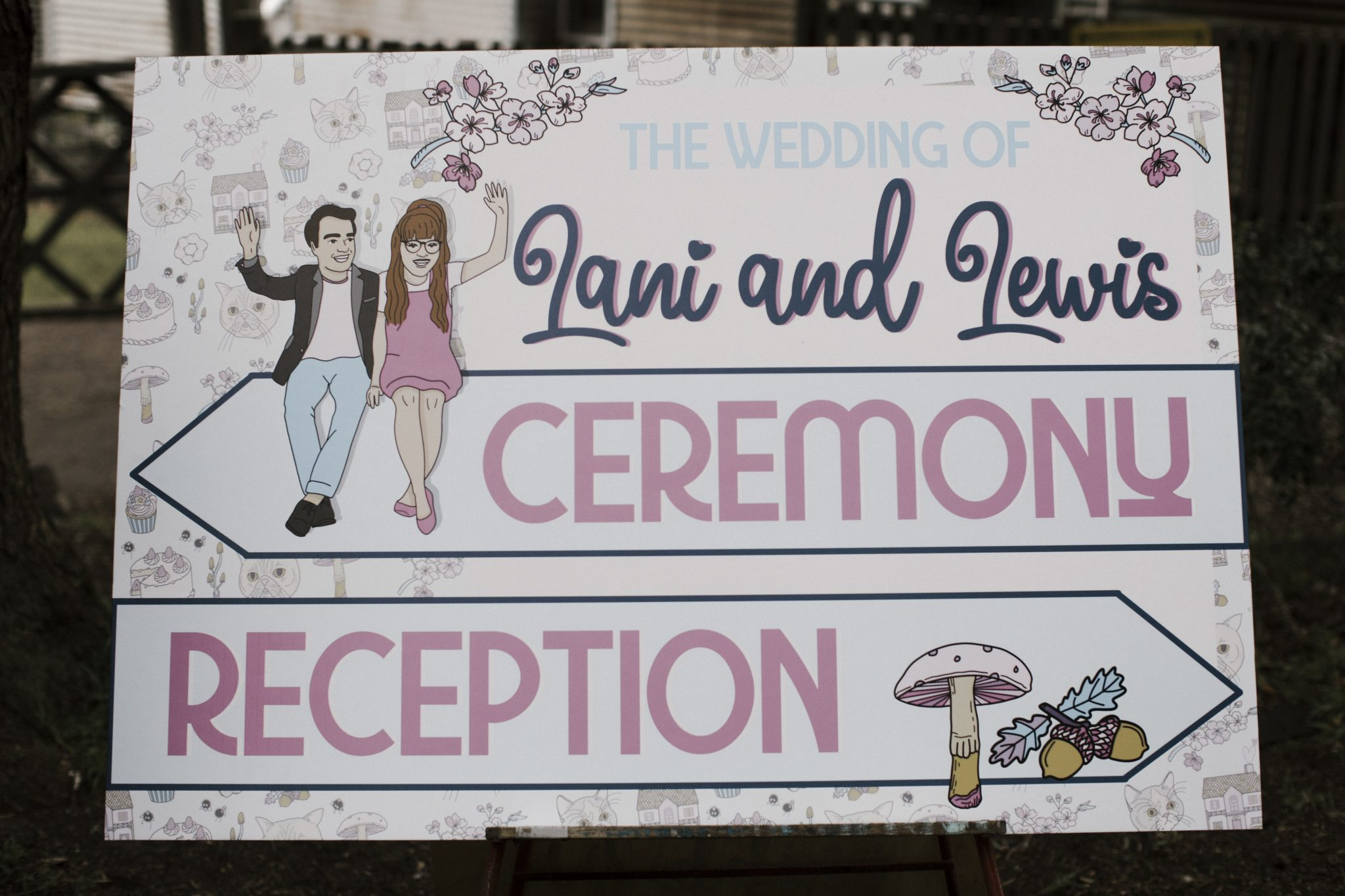 Whimsical Dollhouse Themed Wedding Graphics - Welcome Signage