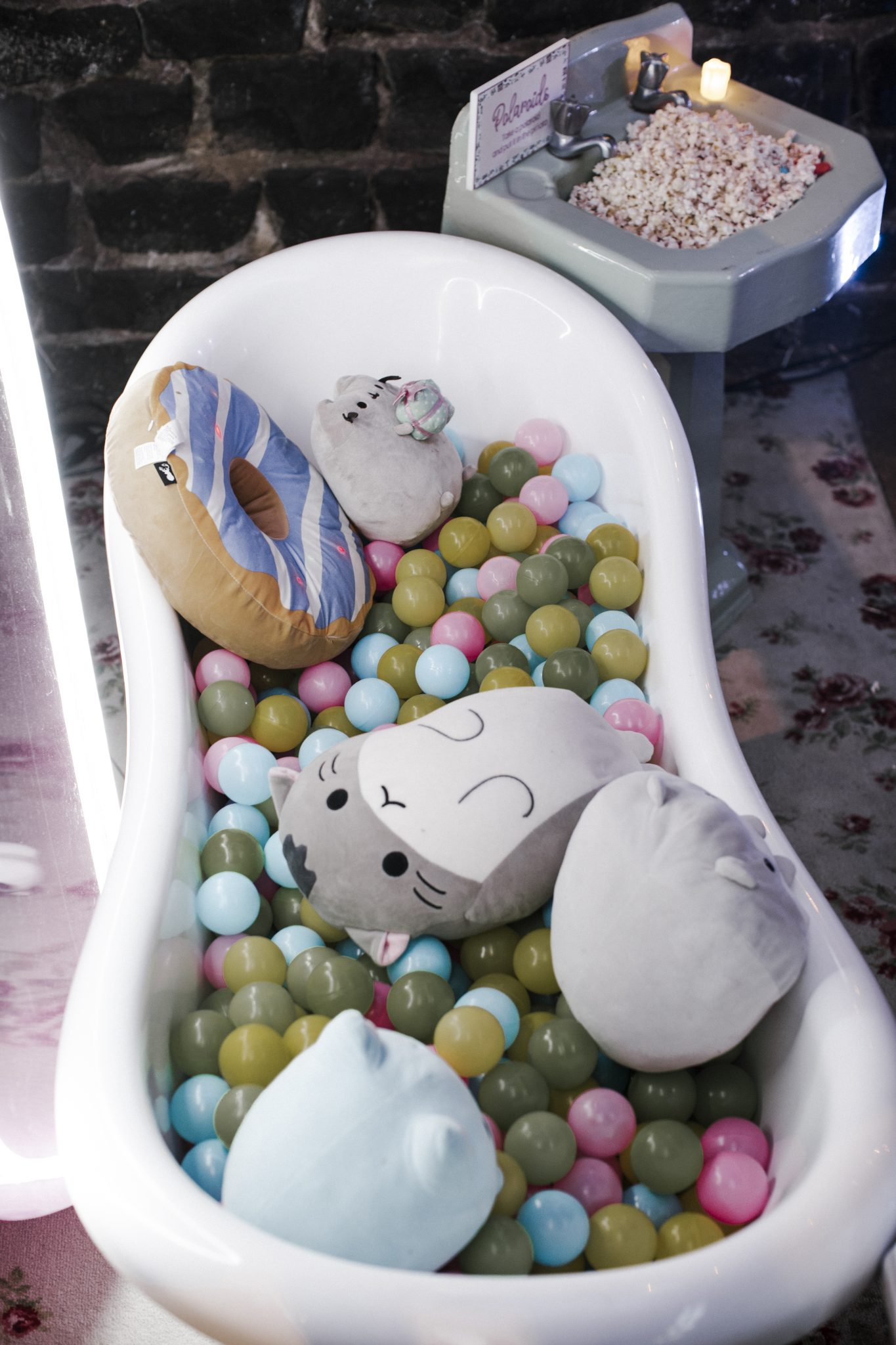 Whimsical Dollhouse Wedding Reception - Ball pit