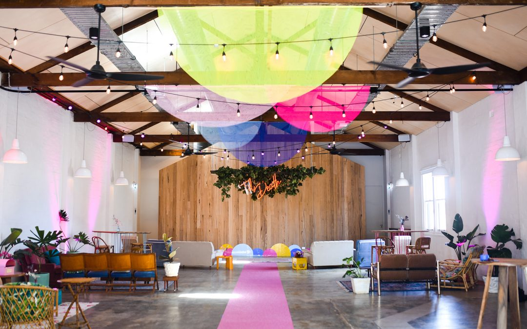 Neon jungle wedding in Geelong