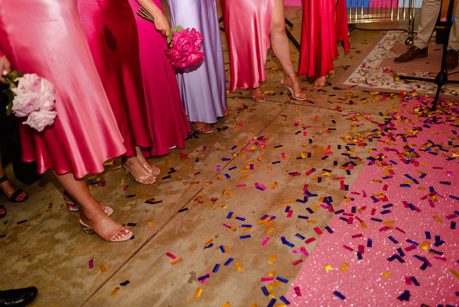 pink glitter dance floor