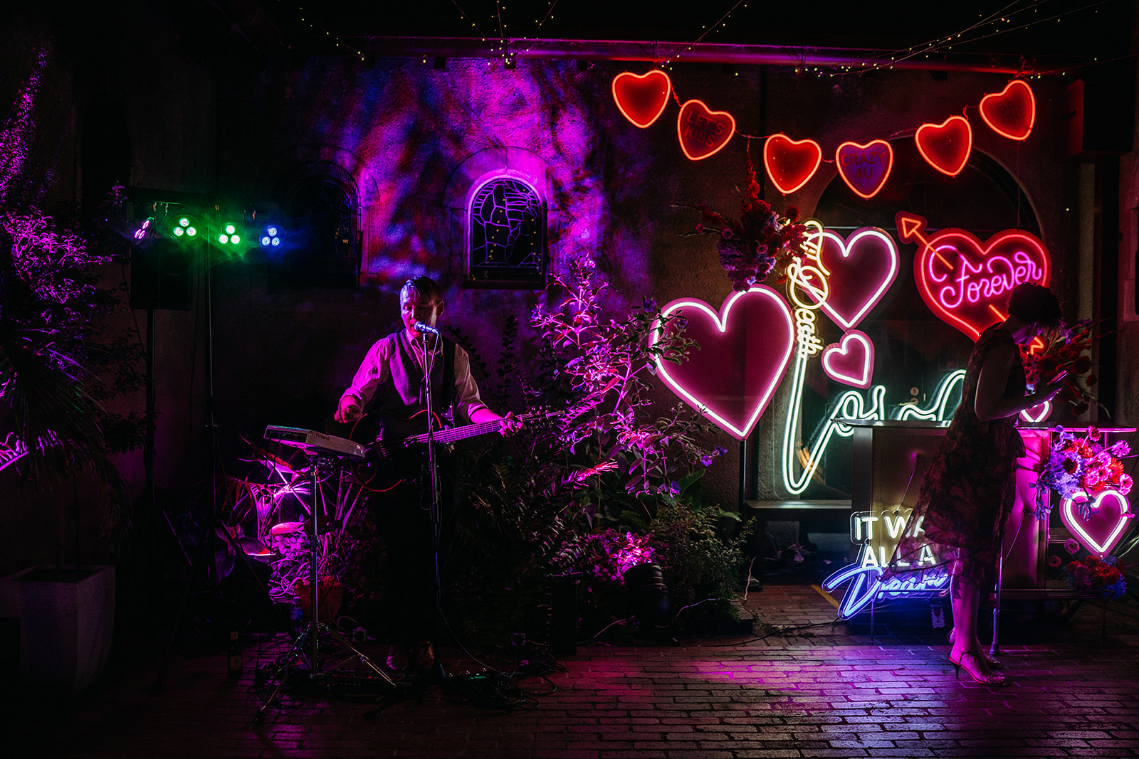 Neon sign soy cowboy themed wedding